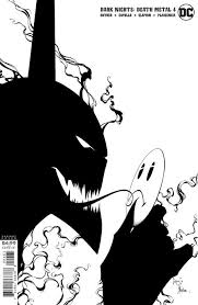 DARK NIGHTS DEATH METAL #4 (OF 7) INC 1:100 GREG CAPULLO & JONATHAN GLAPION BLACK & WHITE VAR (10/13/2020) NOTE 2 SHIP DATES BACKISSUE