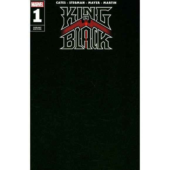 KING IN BLACK #1 (OF 5) BLACK BLANK VAR (12/02/2020) BACKISSUE