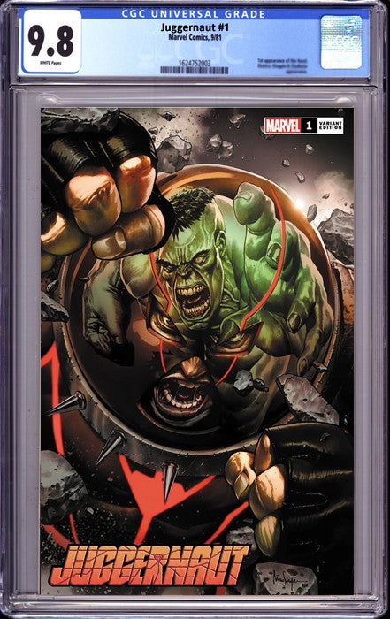 JUGGERNAUT #1 (OF 5) UNKNOWN COMICS MICO SUAYAN EXCLUSIVE VAR DX (11/23/2020) CGC 9.8