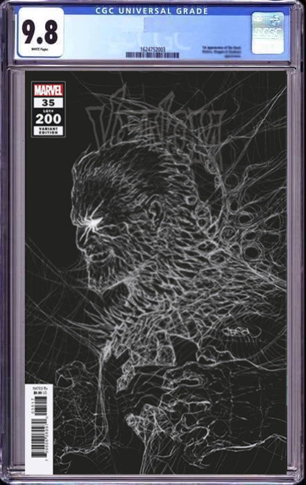 VENOM #35 GLEASON VAR 200TH ISSUE SHIP DATE (10/09/2021) CGC 9.8