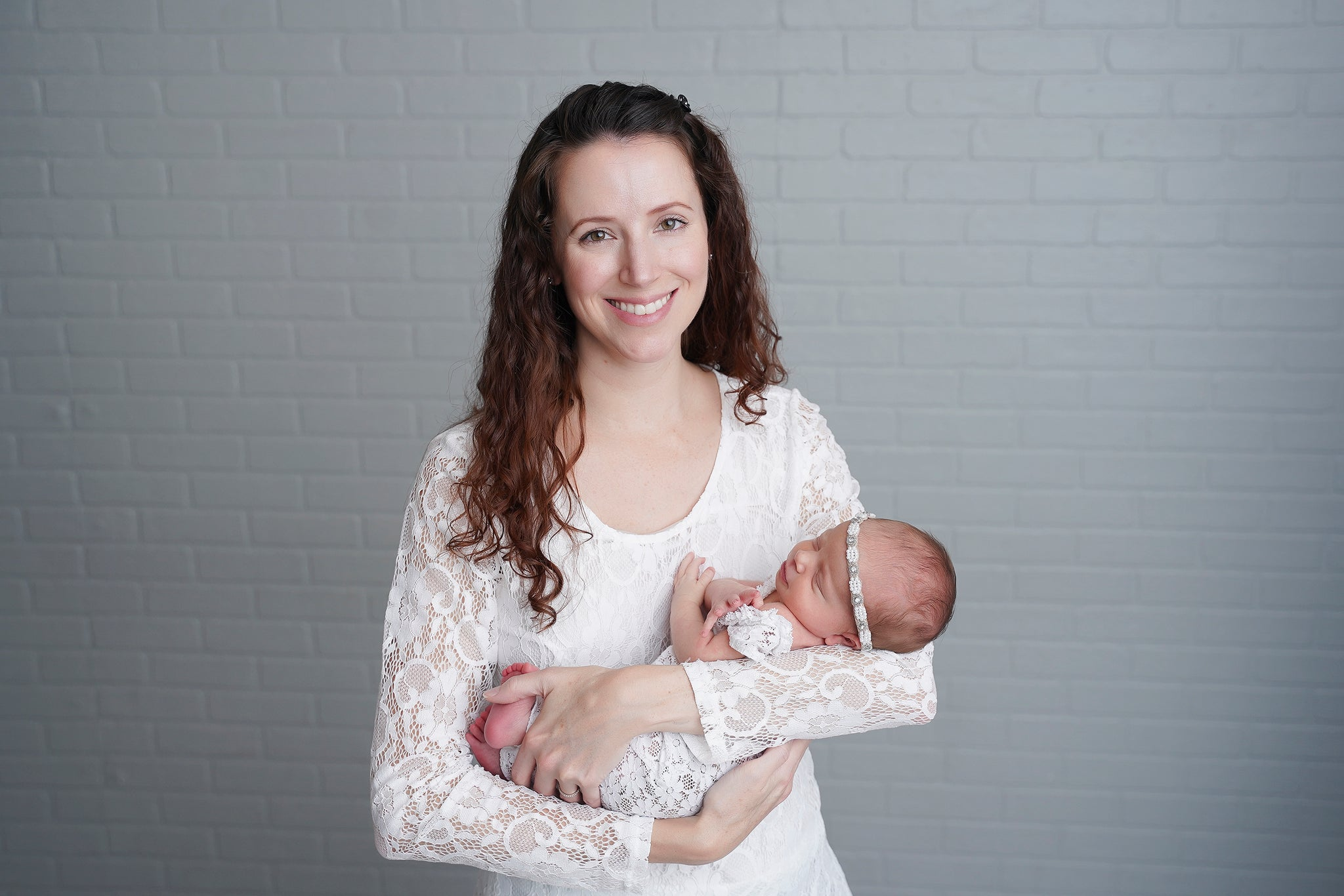 Amy with baby