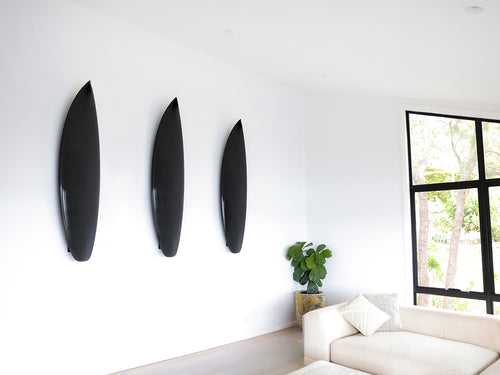 Haydenshapes Floating Surfboard Wall Hanger - Black