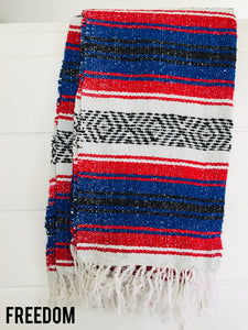 Freedom Throw Blanket - Mexican Blanket