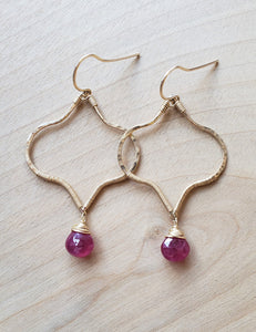 Ruby Moroccan Earrings