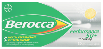 Berocca Focus 50+ Multivitamin 20 Effervescent Tablets