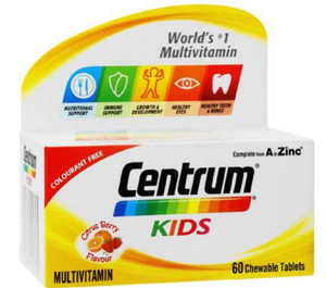 Centrum Kids Nutrition Support Citrus Berry 30 Chewable Tablets