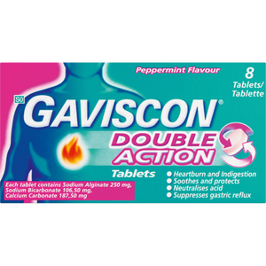 Gaviscon Plus Peppermint Flavour Tablets
