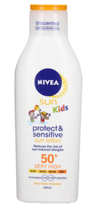 Nivea Sun Kids SPF50+ Sensitive Sun Lotion 200ml