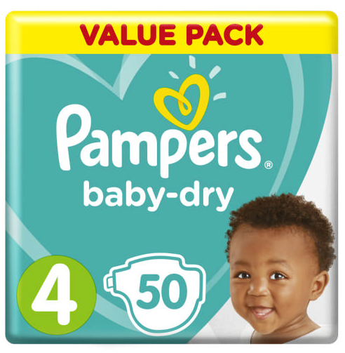 Pampers Active Baby-Dry Size 4 50 Nappies