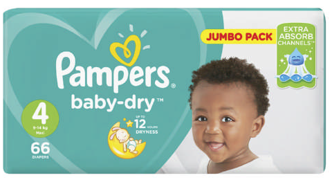 Pampers Active Baby-Dry Size 4 66 Nappies