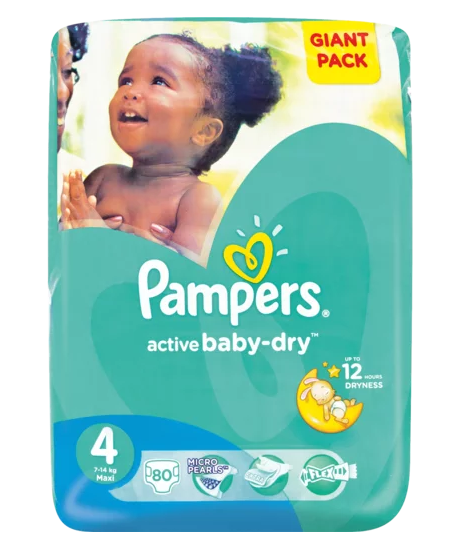 Pampers Active Baby-Dry Size 4 80 Nappies