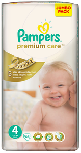 Pampers Premium Care Jumbo packSize 4 Maxi Single 66's