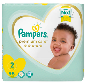 Pampers Premium Care Size 2 Jumbo Pack 96 Nappies