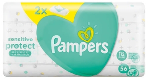 Pampers Sensitive Baby Wipes 2x 56 Wipes