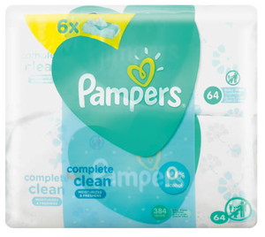 Pampers Baby Wipes Fresh 6 packs x 64 Wipes