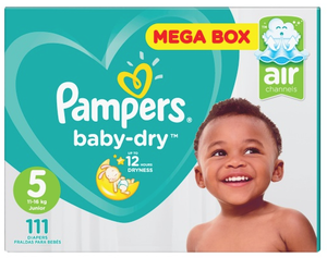 Pampers® Active baby-dry­™ Junior 5 (11-16kg) Nappies 111Pk