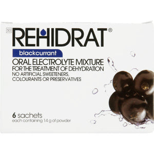 Rehidrate Oral Electrolyte Mixture Blackcurrant 6 Sachets