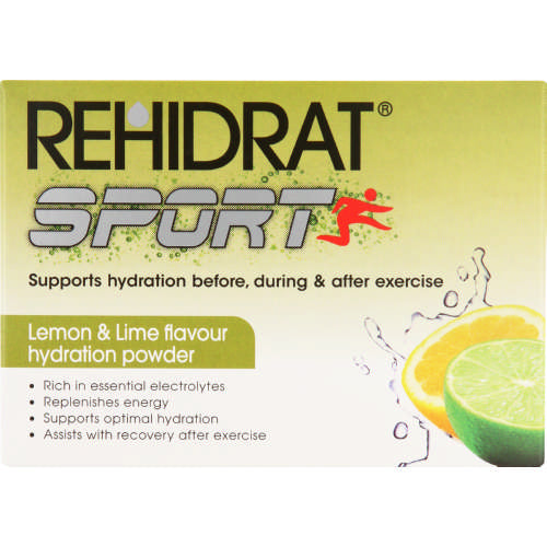 Rehidrate Sport Hydration Powder Lemon & Lime 6 Sachets