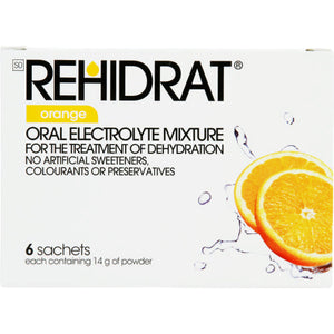 Rehidrate Oral Electrolyte Mixture Orange 6 Sachets
