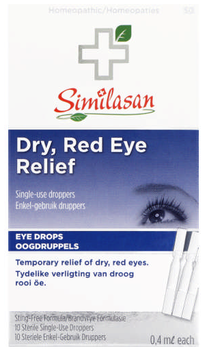 Similasan Dry Red Eye Relief Eye Drops 10ml