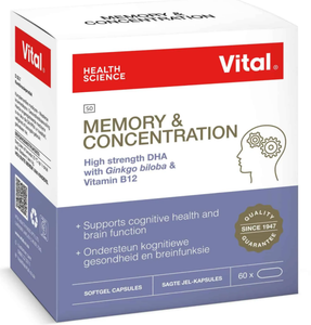 Vital Memory & Concentration Capsules 60 Capsules
