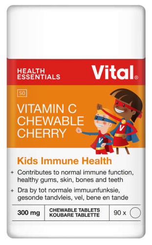 Vital Vitamin C Chewable Antioxidant & Immune Booster Cherry 100 Tablets