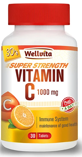 Wellvita Vitamin C Super Strength Tablets (120)
