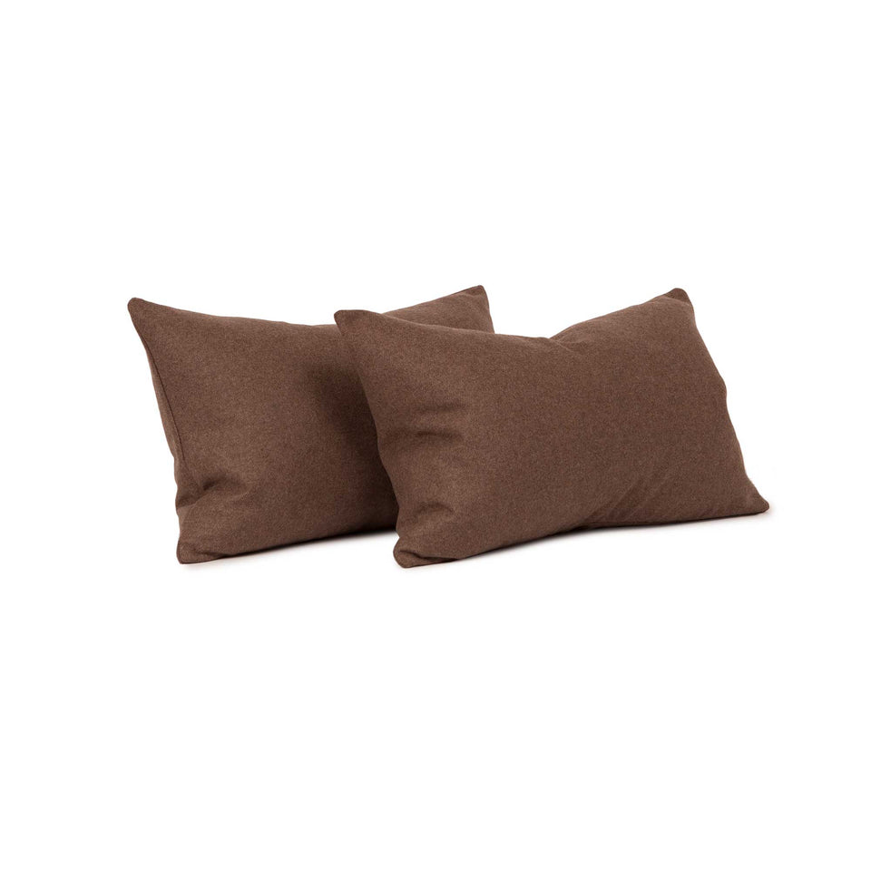 Chevalier Wool Walnut Lumbar Pillow Cover (pair)