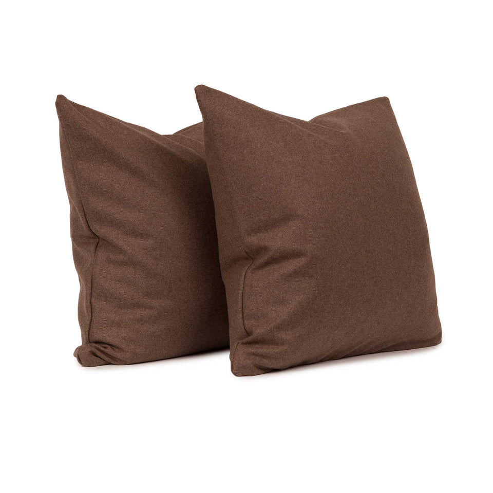 Chevalier Wool Walnut Throw Pillow Cover (pair)