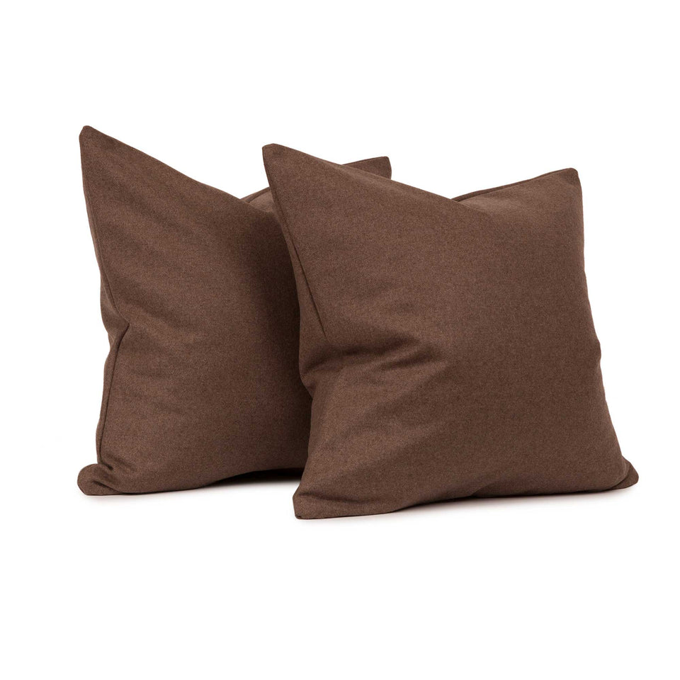 Chevalier Wool Walnut Lumbar Pillow Insert (pair)