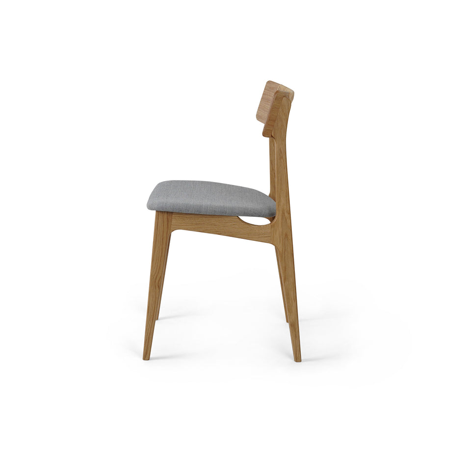 Bernhard Peterson & Søn Chair Model 140 Dinning Chair in Oak Backrest Hand-Woven Cain