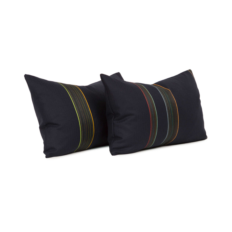 Navy Bespoke Stripe by Paul Smith Lumbar Pillow Cover (pair)
