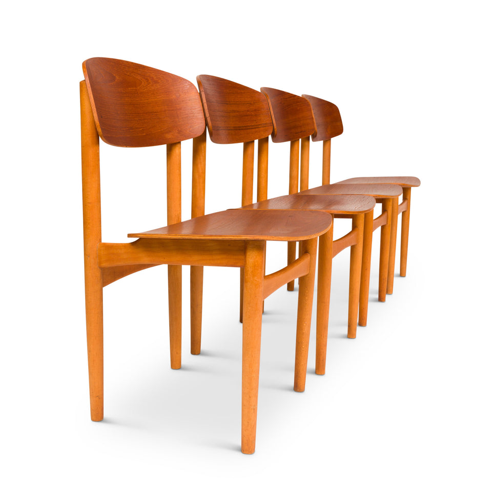 Model 122 Dining Chairs by Børge Mogensen for Søborg, 1950's