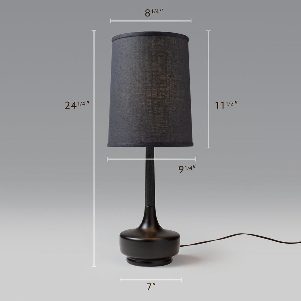 "Mid-Century Table Lamp ""Brooke Noir"""