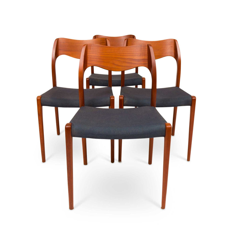 Vintage Møller Model 71 Dinning Chairs—Set of Four