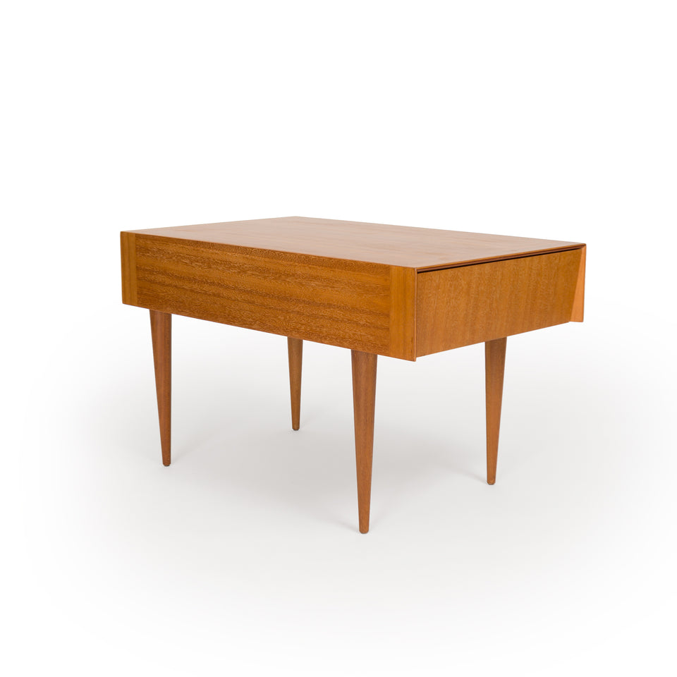 John Keal for Brown Saltman Coffee Table w/ Pull-out Drawer