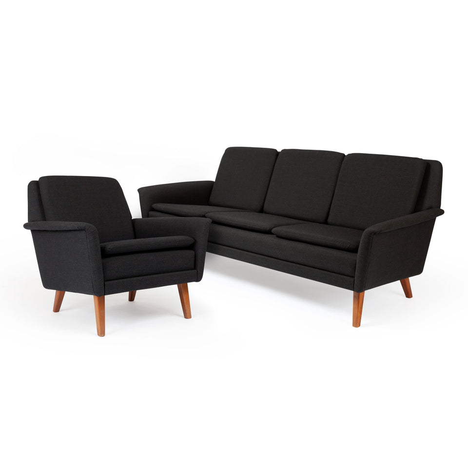 Danish Modern Folke Ohlsson Dux Sofa &Lounge Chair