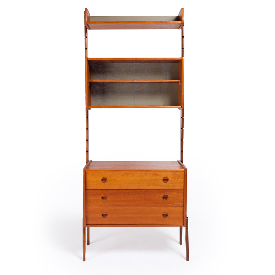 "Blindheim Mobelfabrikk ""ERGO"", Teak Modular System with glass cabinet, by Jon Texmon Norway ca 1961"