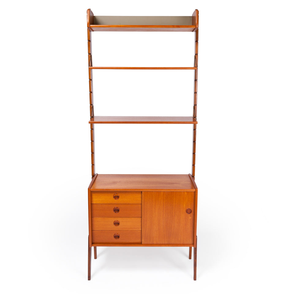 "Single Blindheim Mobelfabrikk ""ERGO"", Teak Modular System, by Jon Texmon Norway ca 1961"