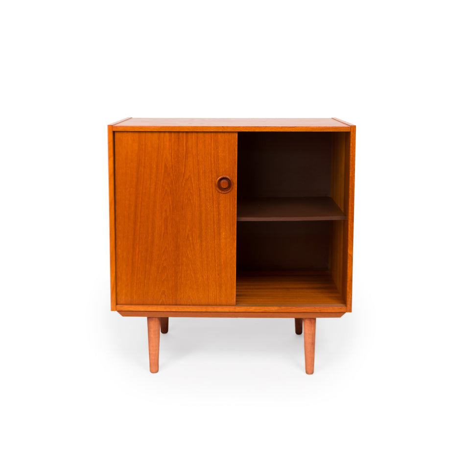 Vintage Danish Mid-Century Two Door Media Cabinet