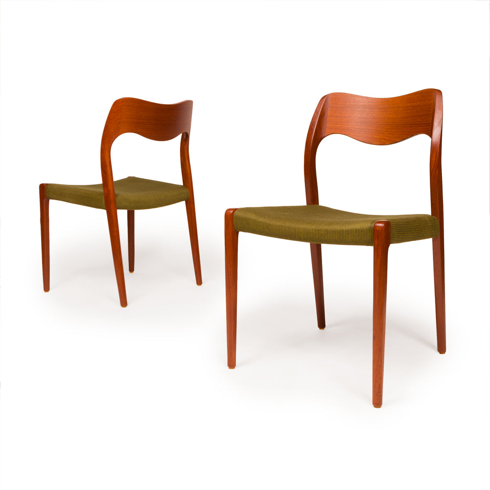 Vintage Niels Otto Møller Model 71 Chairs (set of six)