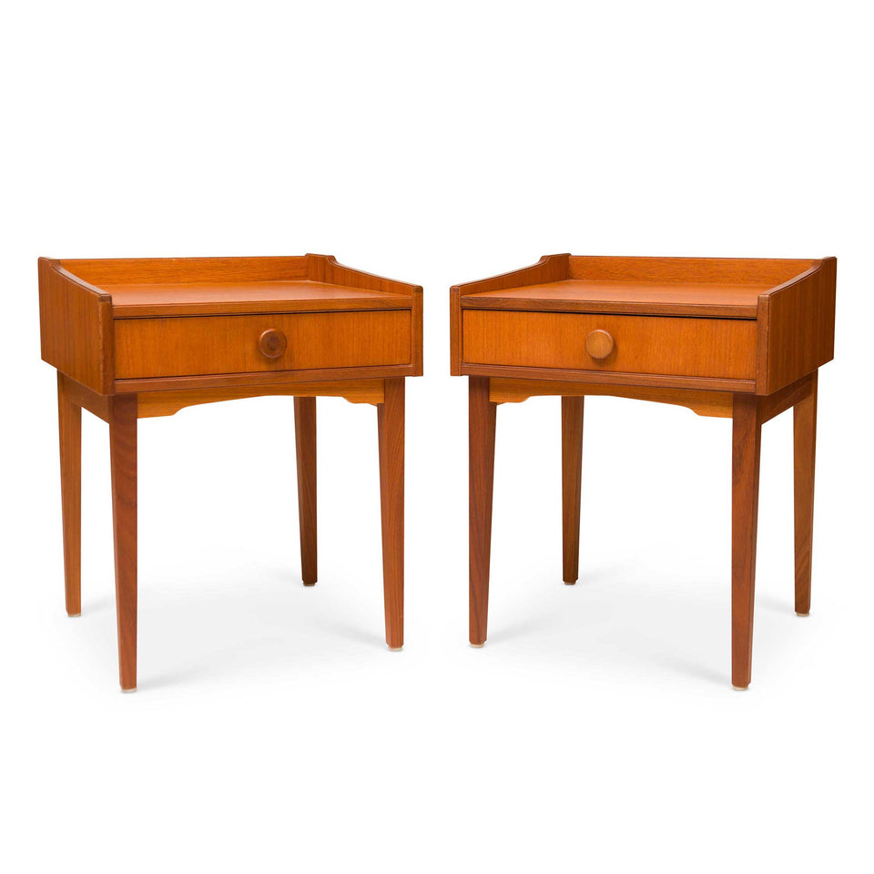 Vintage Danish Mid-Century Teak Night Stands (Pair)