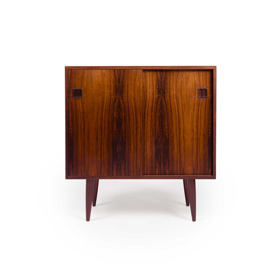 Vintage Danish Mid-Century Rosewood Two-Door Media Cabinet