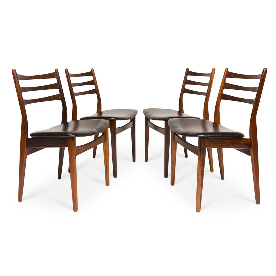 Vintage Danish Mid-Century Rosewood Dining Chairs