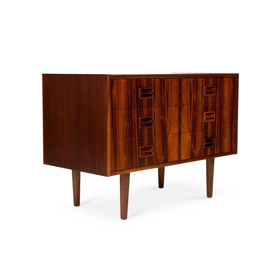 Vintage Danish Mid-Century Brazilian Rosewood Chest— Six Drawers