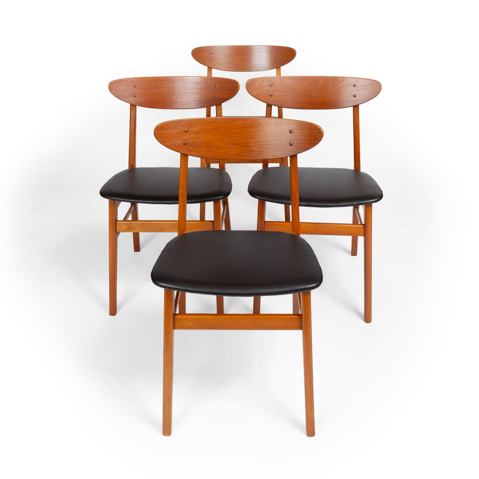 Set of Four Farstrup Møbelfabrik Teak Danish Modern Dining Chairs, 1960s