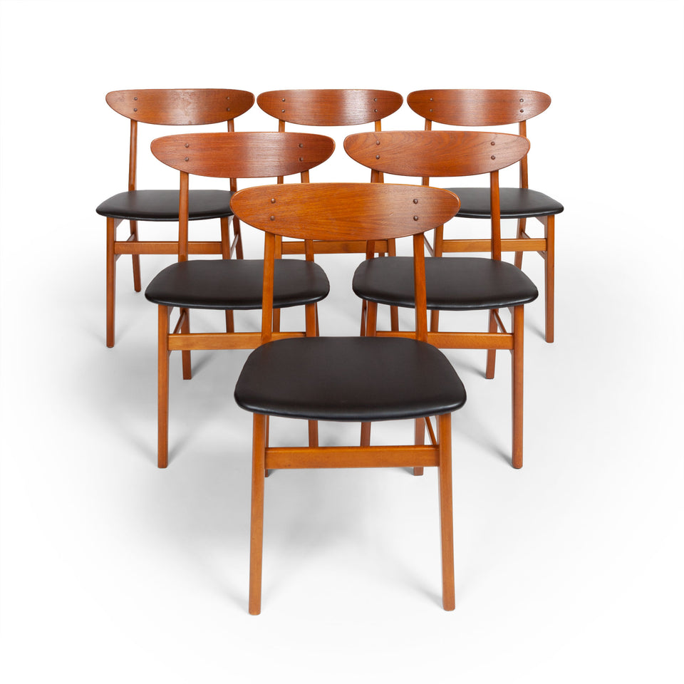 Set of Six Farstrup Møbelfabrik Teak Danish Modern Dining Chairs, 1960s