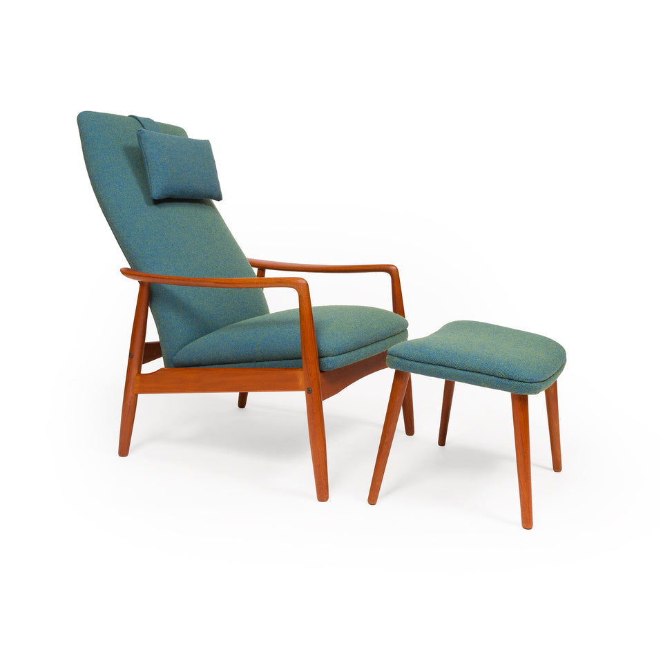 Danish Mid-Century Svend Langkilde High Back Lounge Chair
