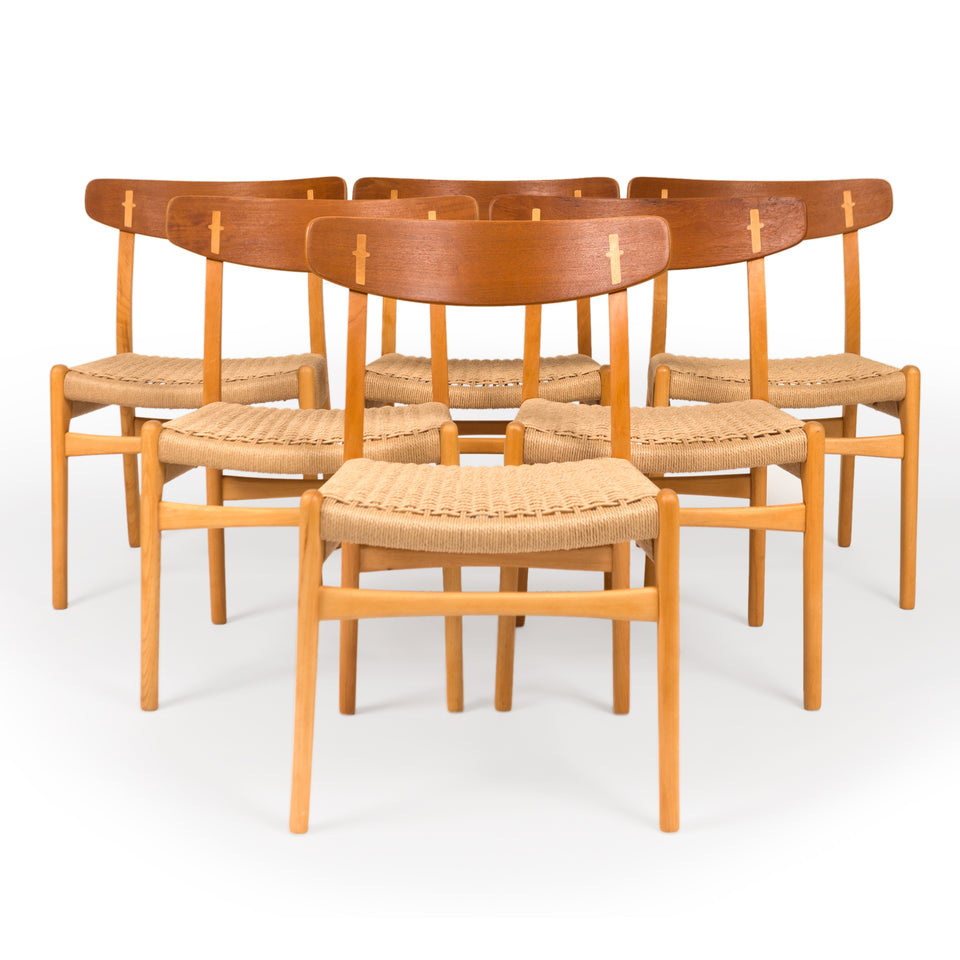 Vintage Hans Wegner CH23 Dining Chairs by Carl Hansen 1960s (Set of six )