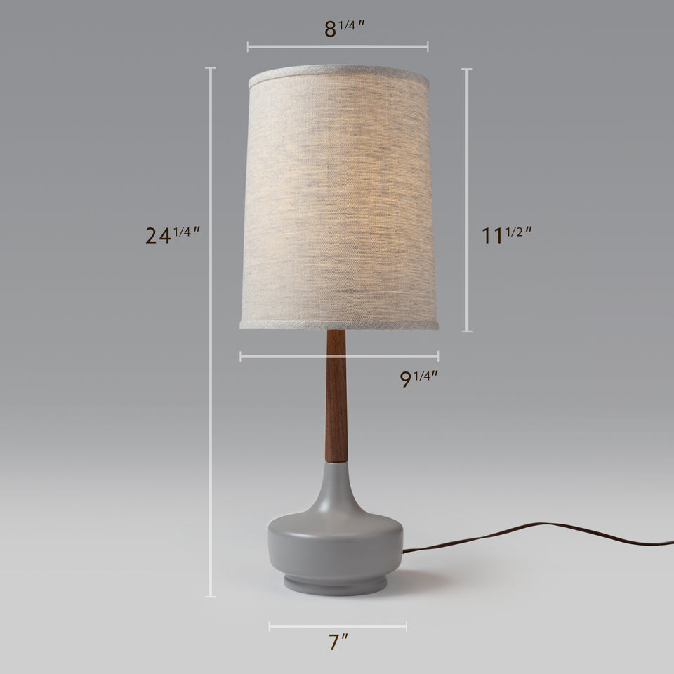 "Mid-Century Table Lamp ""Brooke Nantucket #8"""